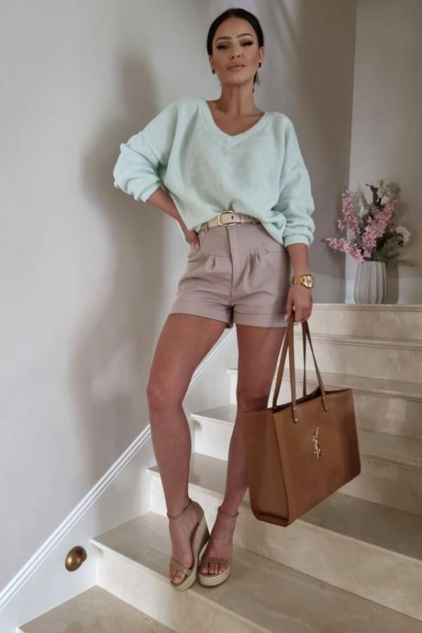 Sweterek By Me oversize miętowy 2