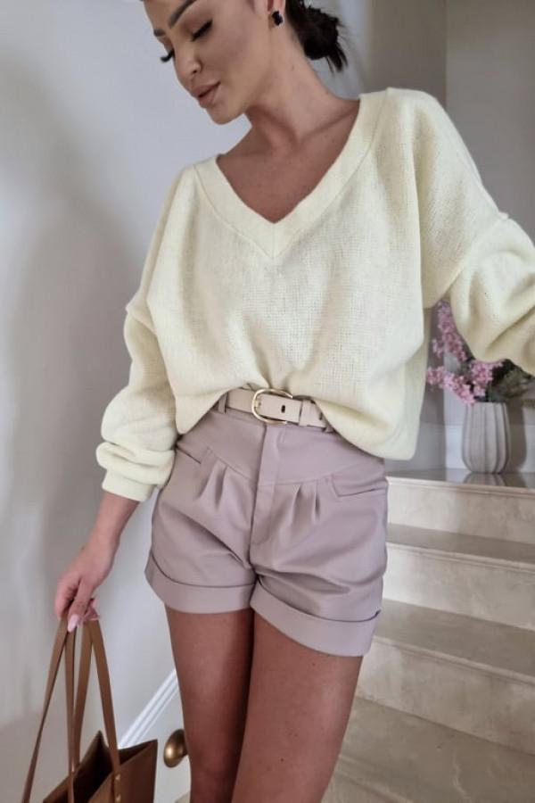 Sweterek By Me oversize żółty