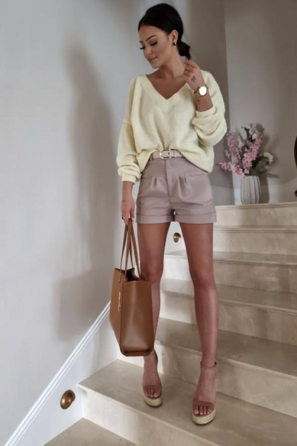 Sweterek By Me oversize żółty 1