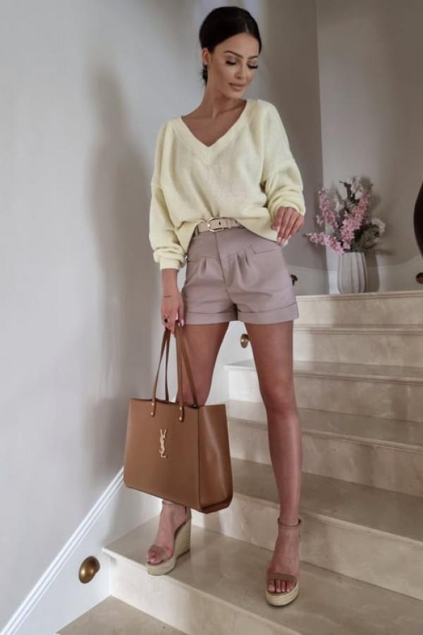 Sweterek By Me oversize żółty 2