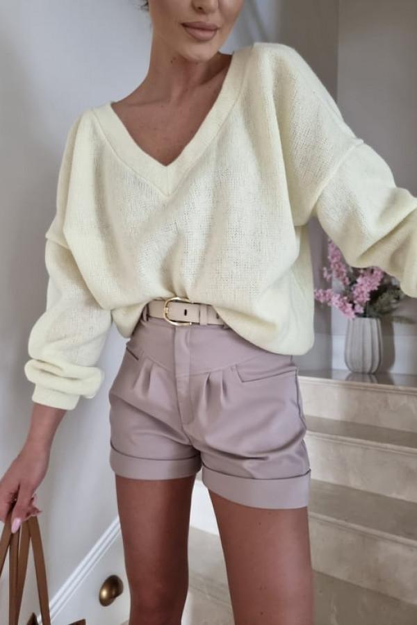 Sweterek By Me oversize żółty 3