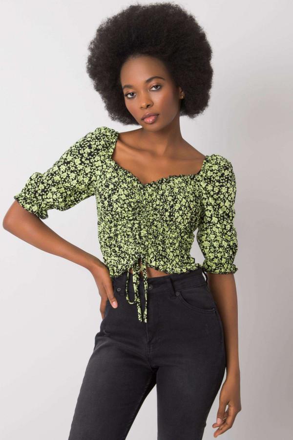 Czarno-zielona bluzka Giavanna 1