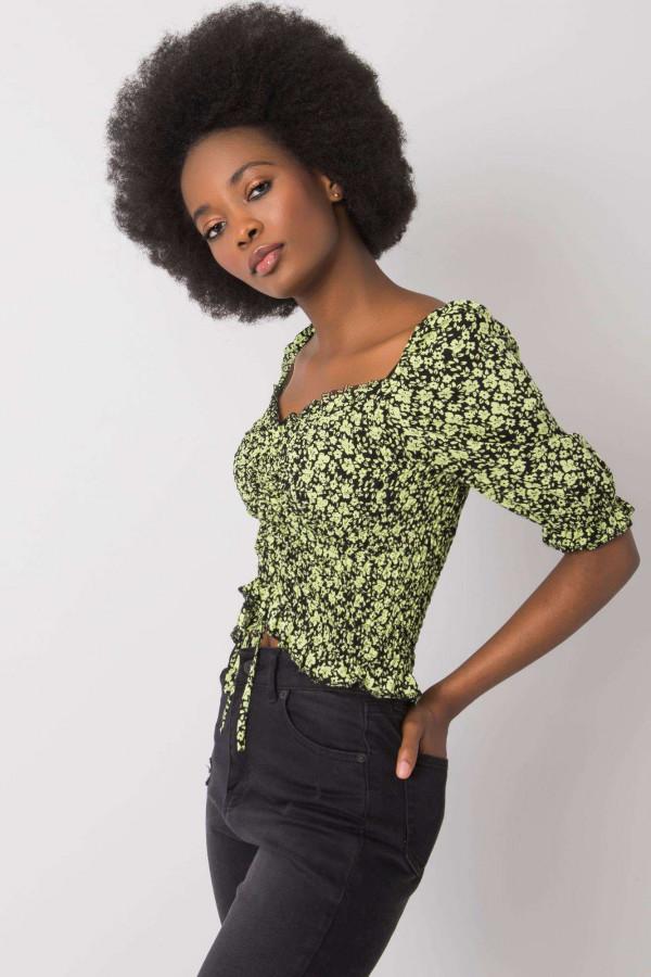 Czarno-zielona bluzka Giavanna 2