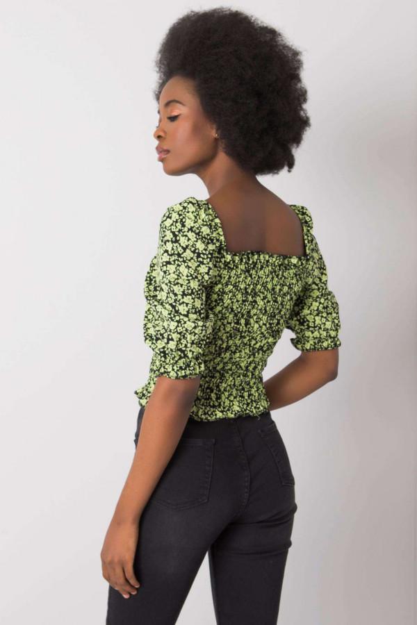Czarno-zielona bluzka Giavanna 3