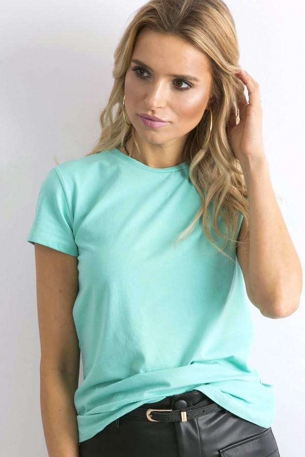 Ciemnomiętowy t-shirt Peachy 1