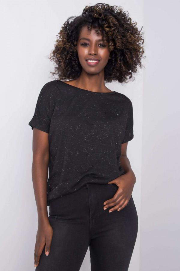 Czarny t-shirt Evabelle