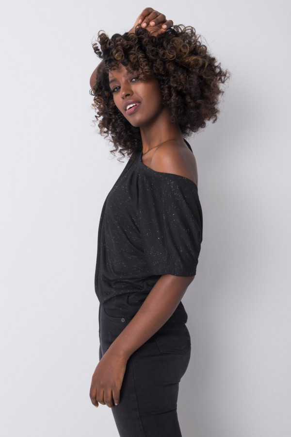 Czarny t-shirt Evabelle 1