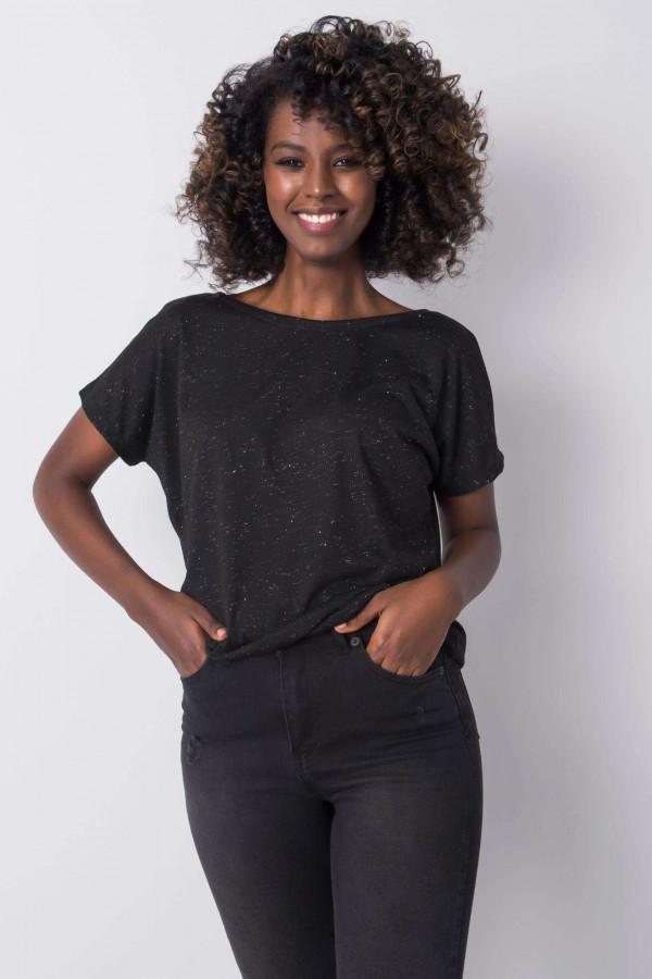 Czarny t-shirt Evabelle 3