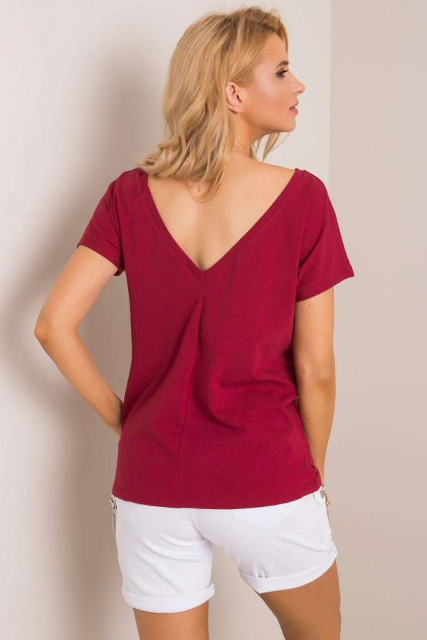 Bordowy t-shirt Amor 1