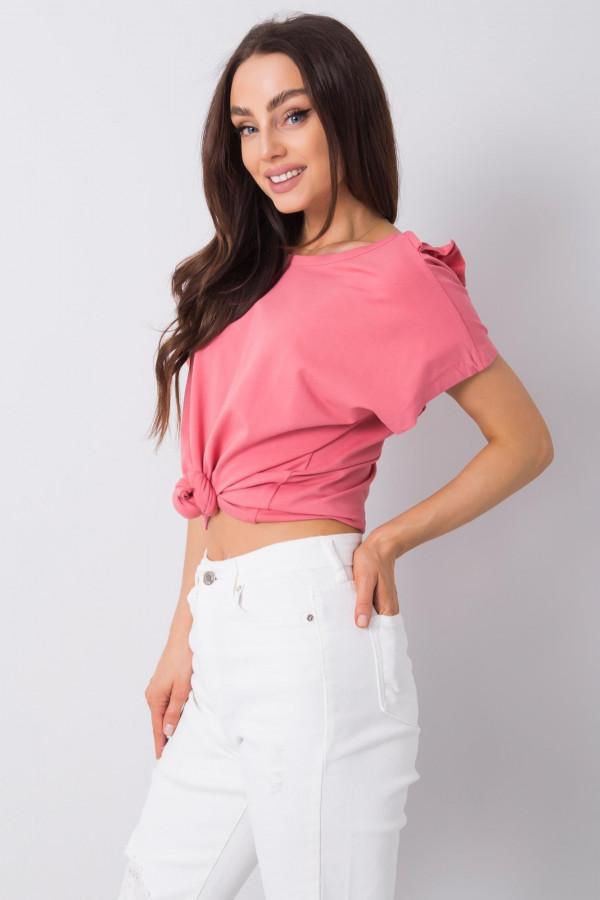 Różowa bluzka z falbankami Leanne