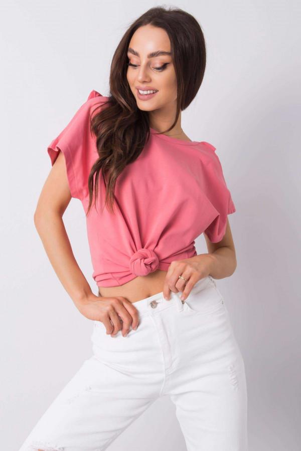 Różowa bluzka z falbankami Leanne 2