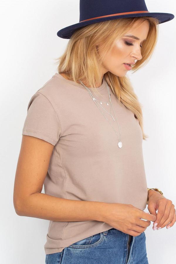 Ciemnobeżowy t-shirt Peachy 2