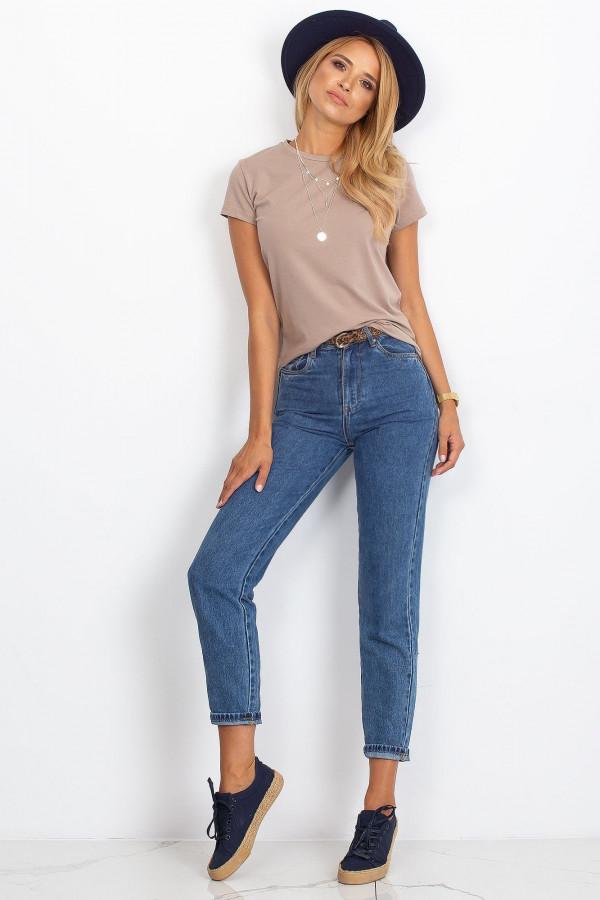 Ciemnobeżowy t-shirt Peachy 3
