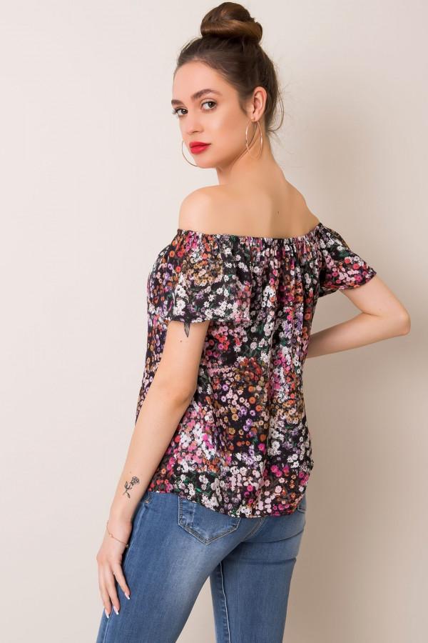 Czarno-różowa bluzka Serille 1