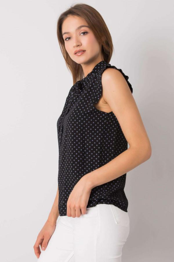 Czarna bluzka w groszki Kaiya 2
