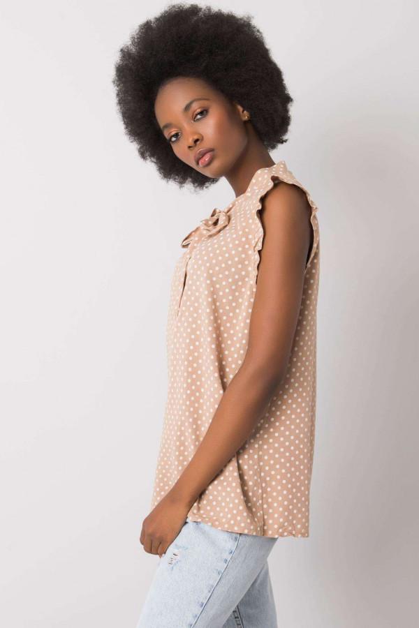 Camelowa bluzka w groszki Kaiya 1