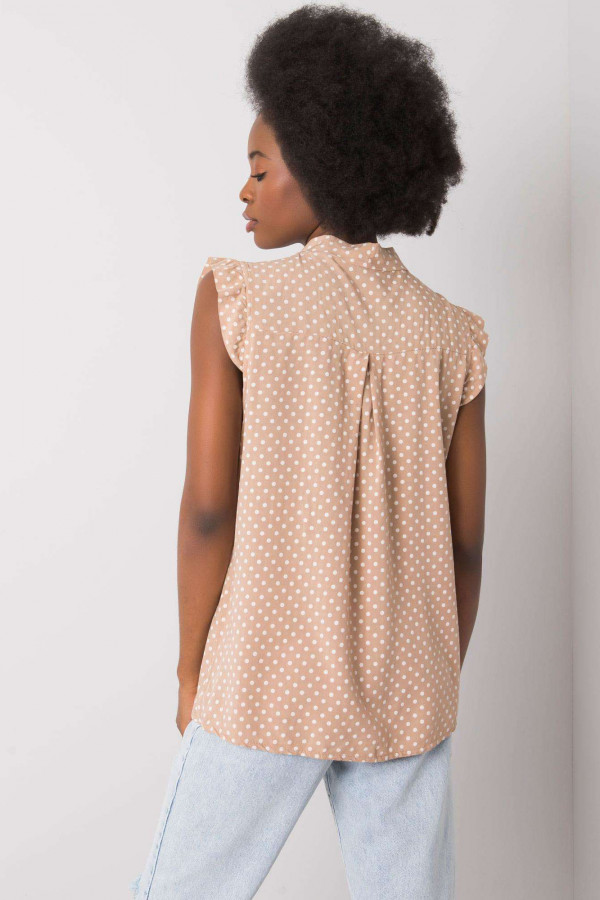 Camelowa bluzka w groszki Kaiya 2
