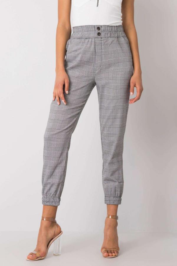 Czarno-białe spodnie w kratę Esperanza 1