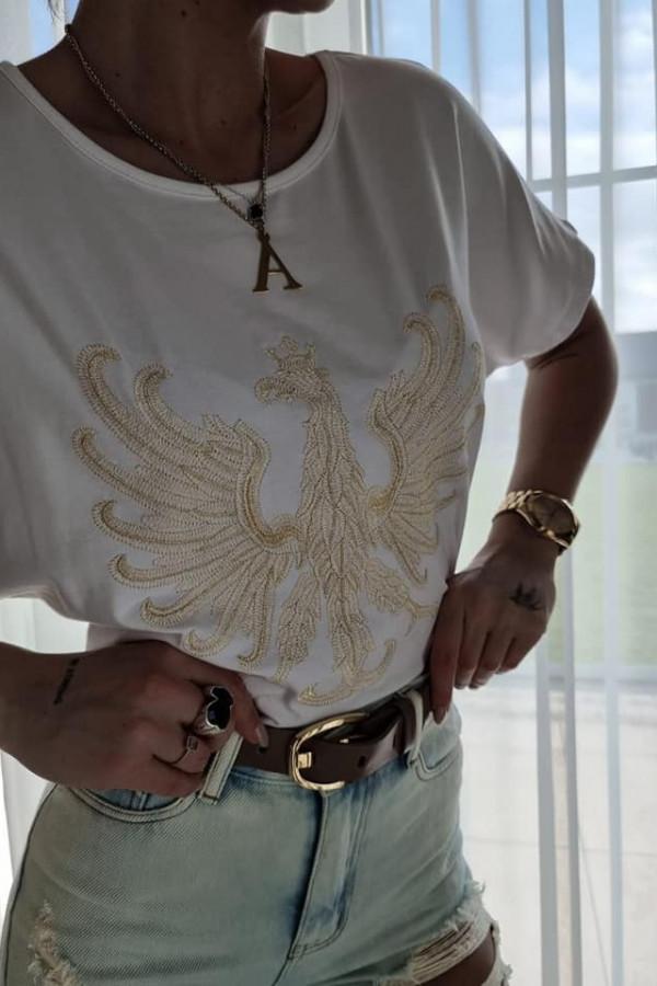 Biały T-shirt z Orłem