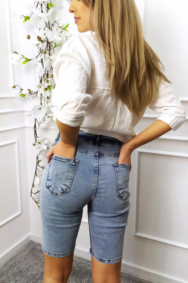 Spodenki jeansowe z wyższym stanem 1