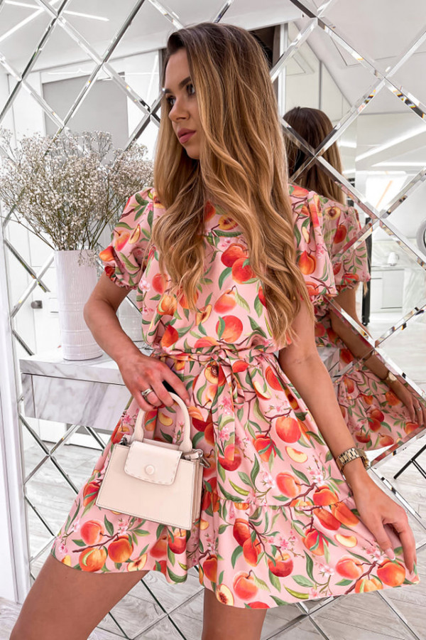 Sukienka Spring w brzoskwinie