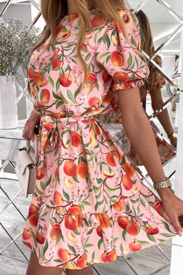 Sukienka Spring w brzoskwinie 2