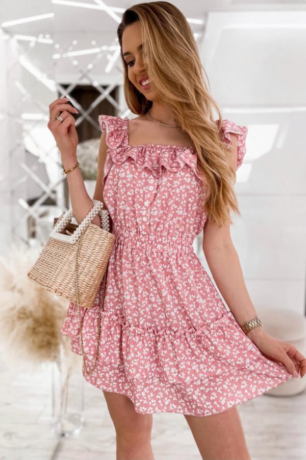 Sukienka Hiszpanka camelowa