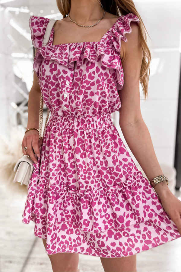 Sukienka Hiszpanka różowa