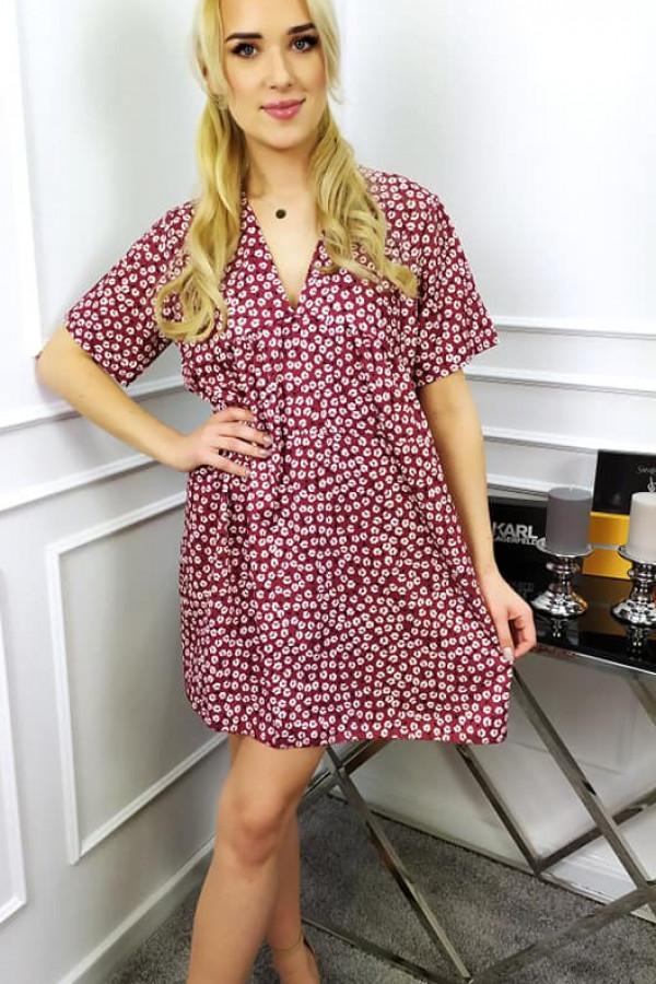 Sukienka Mila bordowa