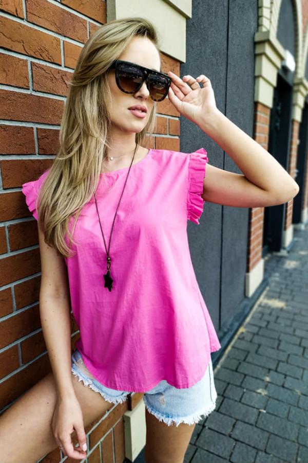 Bluzka Maddie różowa z naszyjnikiem