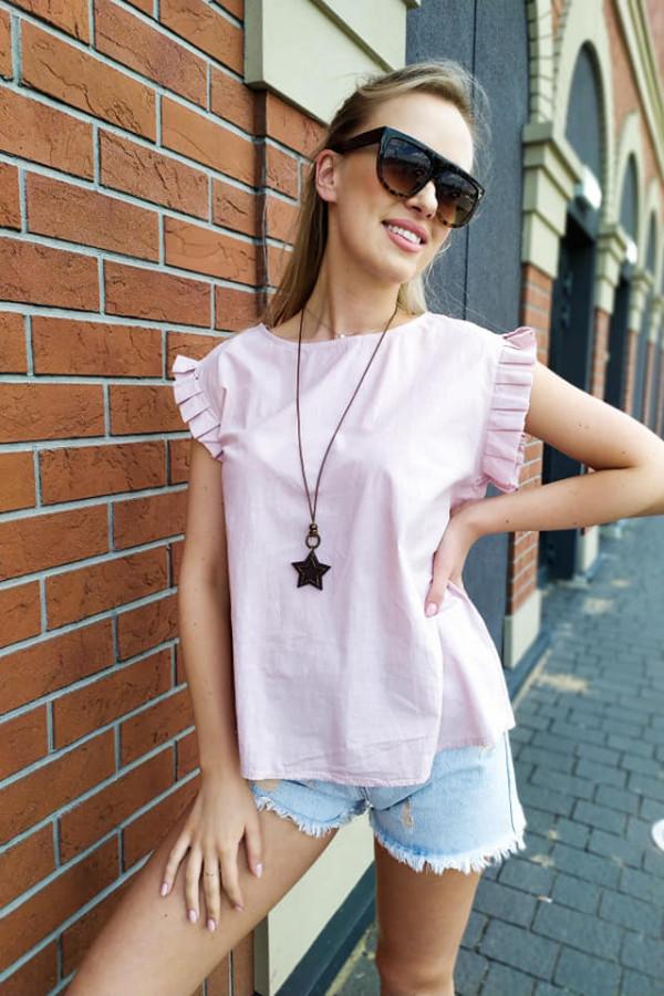 Bluzka Maddie bladoróżowa z naszyjnikiem 1