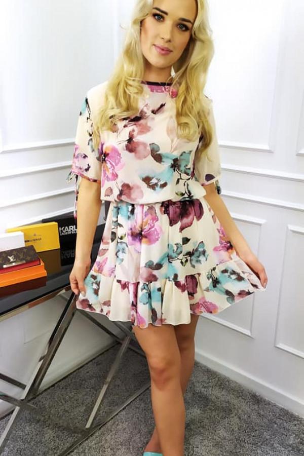 Sukienka Velvet kremowa