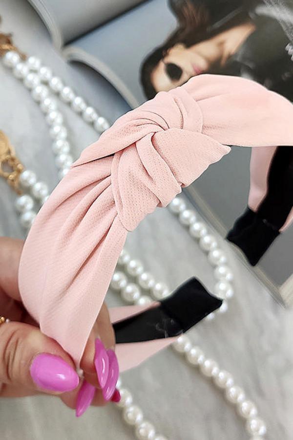 Opaska turban materiał klasyk gruba ró.ź