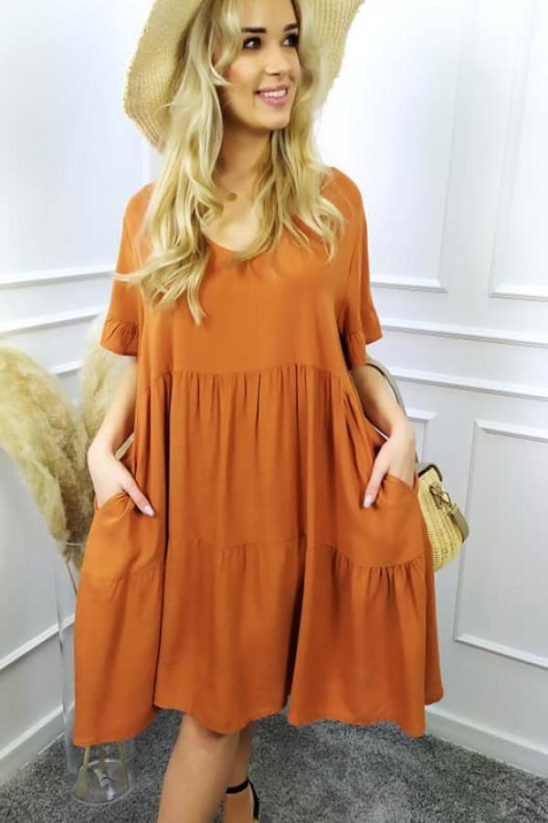 Sukienka long pomarańczowa