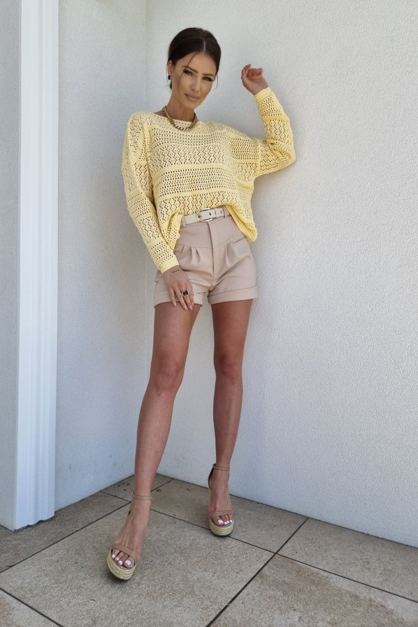 Sweterek oversize żółty