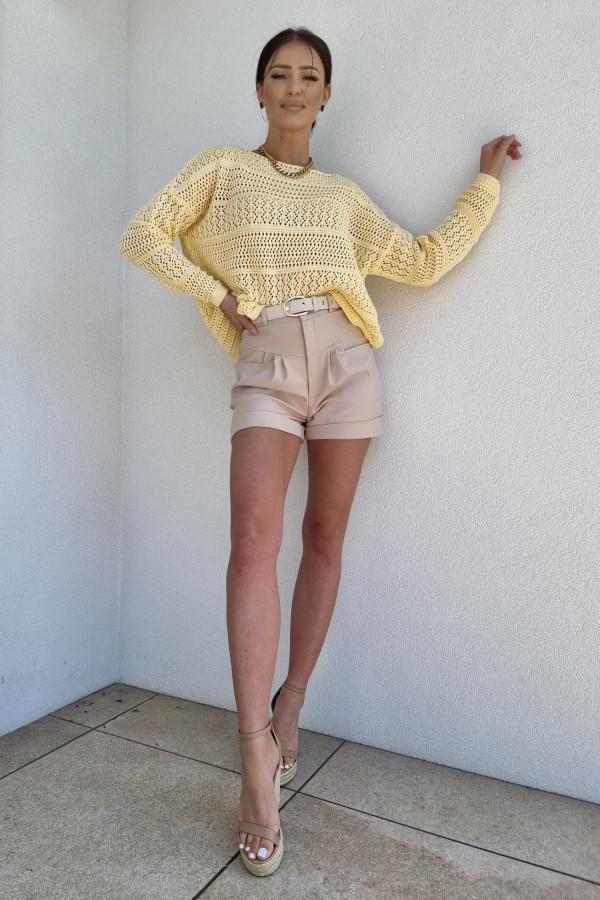Sweterek oversize żółty 1