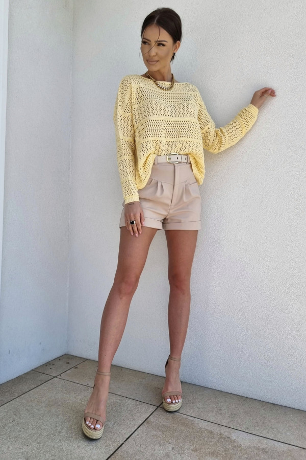 Sweterek oversize żółty 2