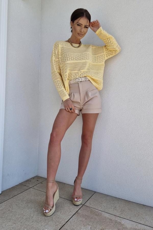 Sweterek oversize żółty 3