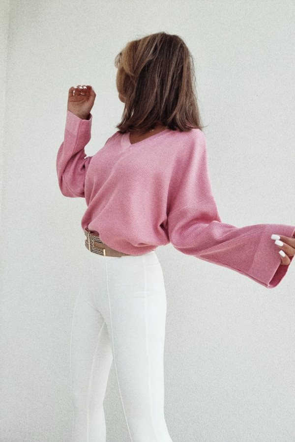 Sweterek By Me Kimono fuksja 1