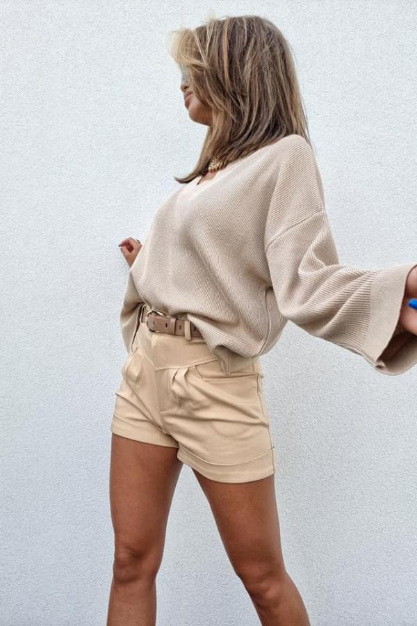 Sweterek By Me Kimono beżowy 1