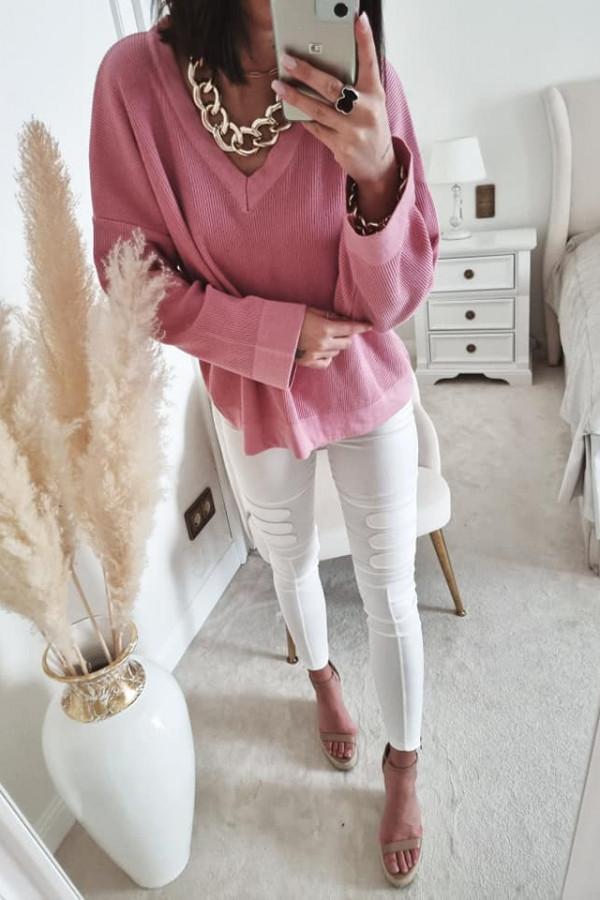 Sweterek By Me Kimono fuksja 3