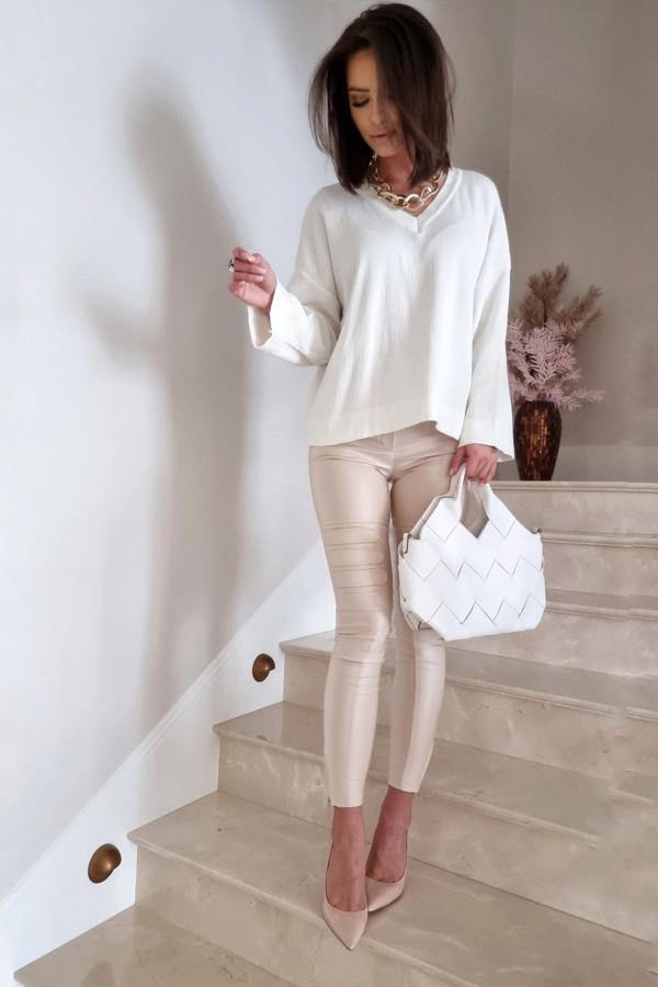 Sweterek By Me Kimono biały