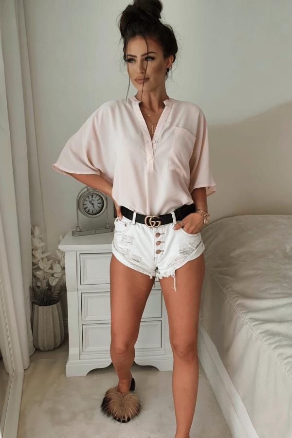 Bluzka oversize jasny róź 2