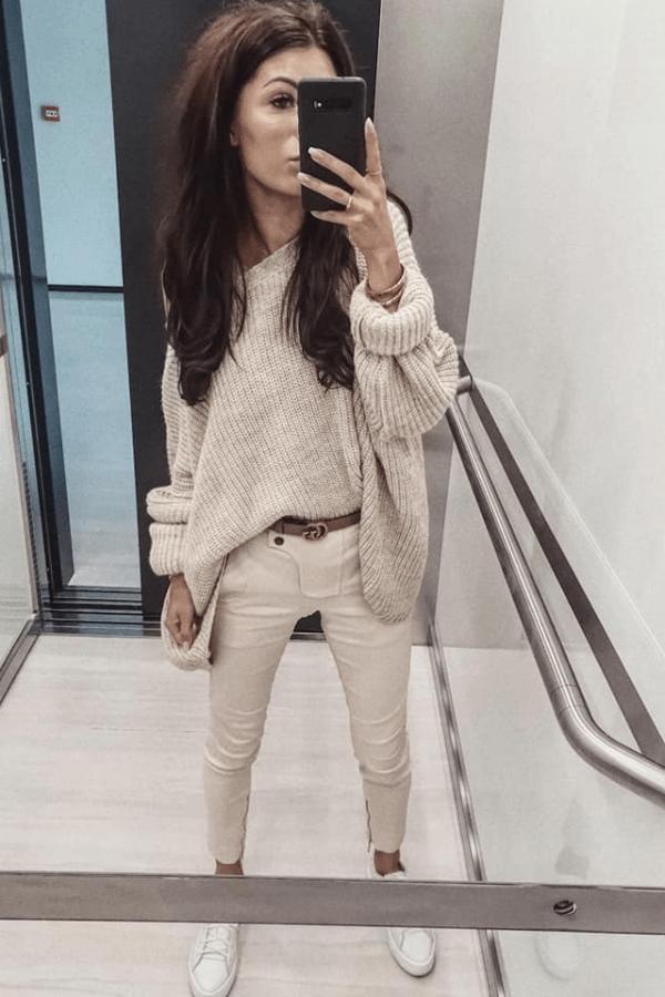 Sweterek Zara biały