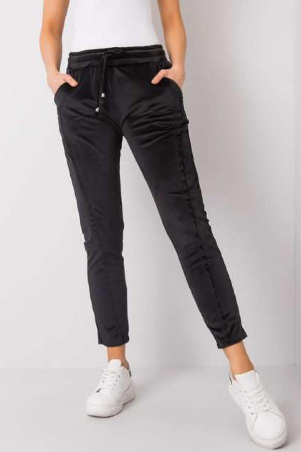 Czarne spodnie welurowe Juanita 1