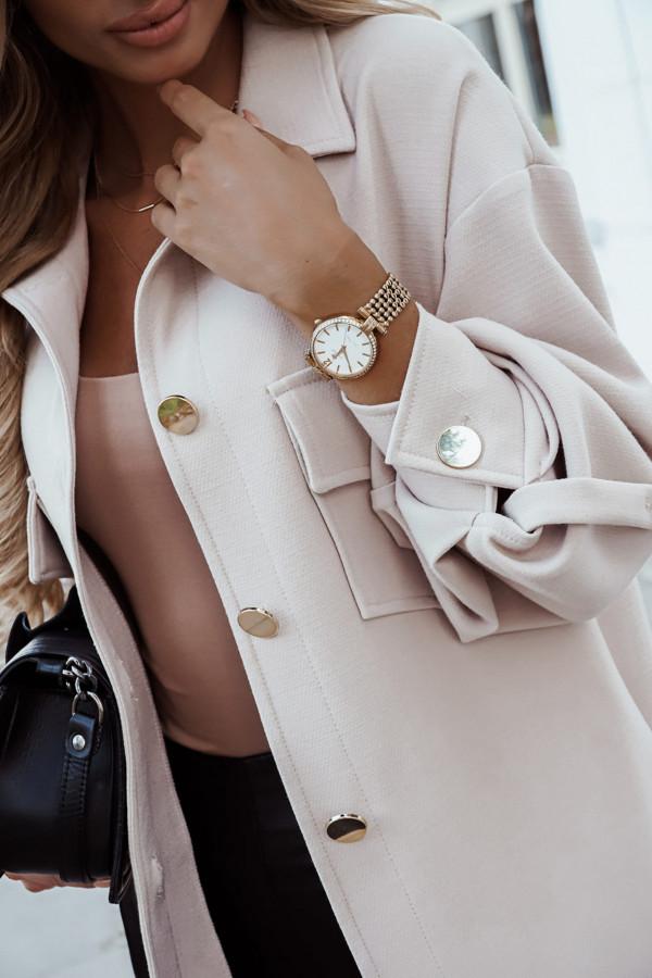 Płaszcz koszula beige
