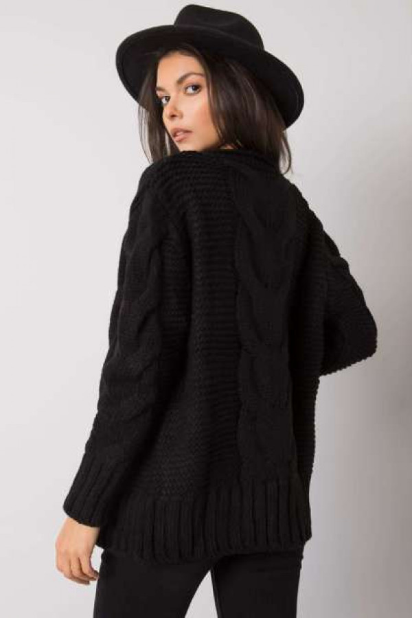 Czarny sweter na guziki Louissine 2