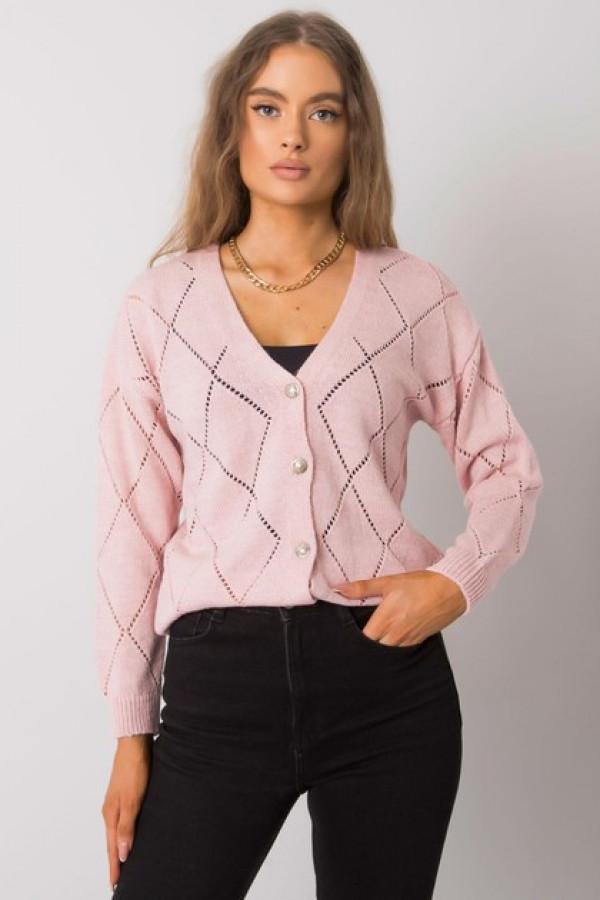 Różowy sweter rozpinany Elisabete