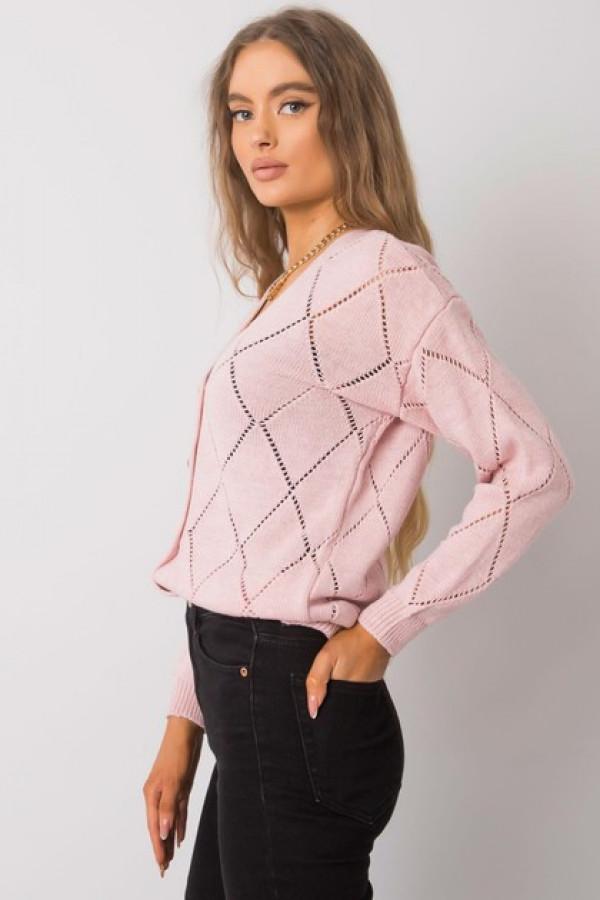 Różowy sweter rozpinany Elisabete 1