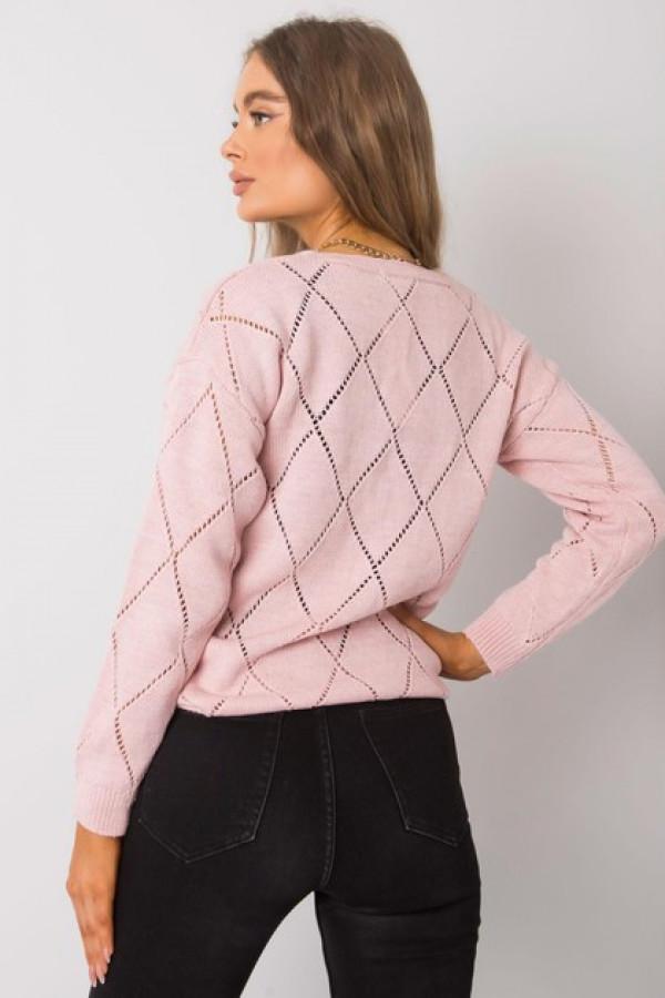 Różowy sweter rozpinany Elisabete 2